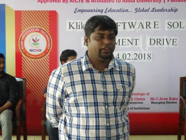 Klikx Software Solutions  -  Placement Drive