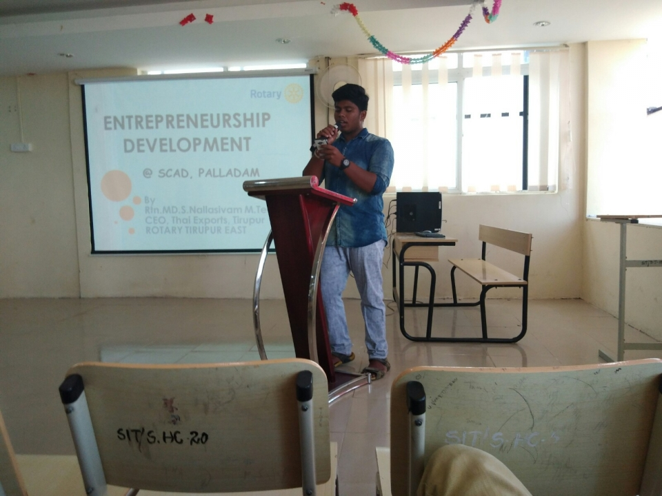 A Seminar conducted by SCADIT Rotaract Club